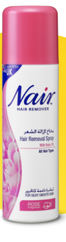 NAIR HAIR REMOVAL SPRAY WITH ROSE