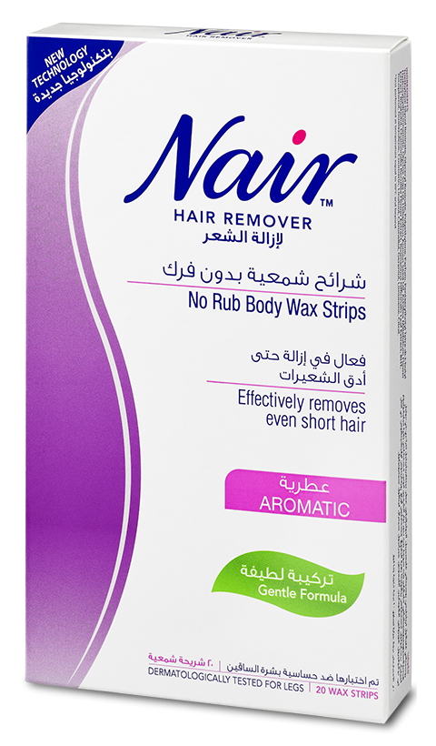 NAIR AROMATIC NO RUB BODY WAX STRIPS